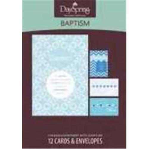 Card-Boxed-Baptism-Blue Patterns (Box Of 12)