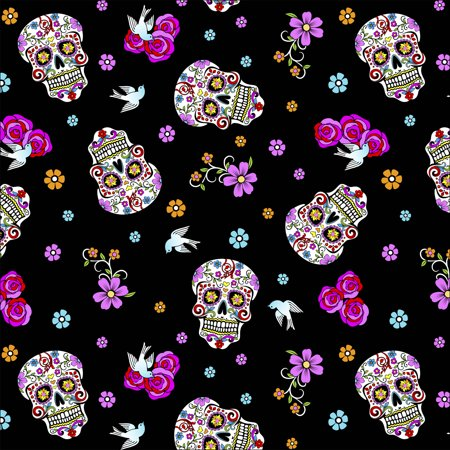 David Textiles Day of the Dead with Glitter 44