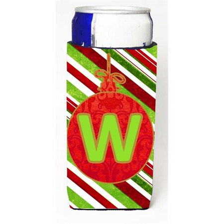 Christmas Ornament Holiday Monogram Initial Letter W Michelob Ultra s For Slim Cans - S Monogram