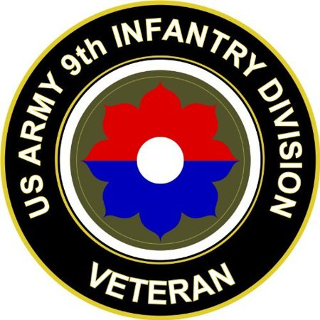 """3.8"""" US Army 9th Infantry Division Veteran Decal Sticker"""