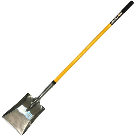 Centurion 571 Stainless Steel Sturdy Long Handle Square Point Shovel