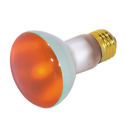 Satco S3203 50W 130V R20 Amber E26 Medium Base Incandescent light bulb