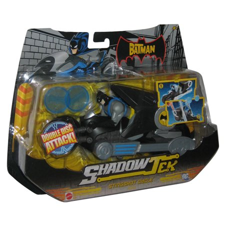 DC Batman Riding ShadowTek Stingshot Cycle Mattel Toy Vehicle w/ Figure