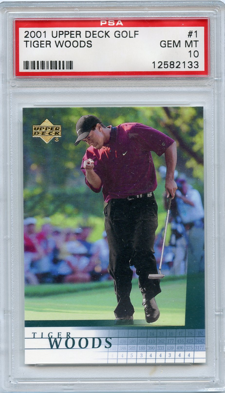 2001 Upper Deck Golf Tiger Woods # 1 PSA Gem Mint 10 by