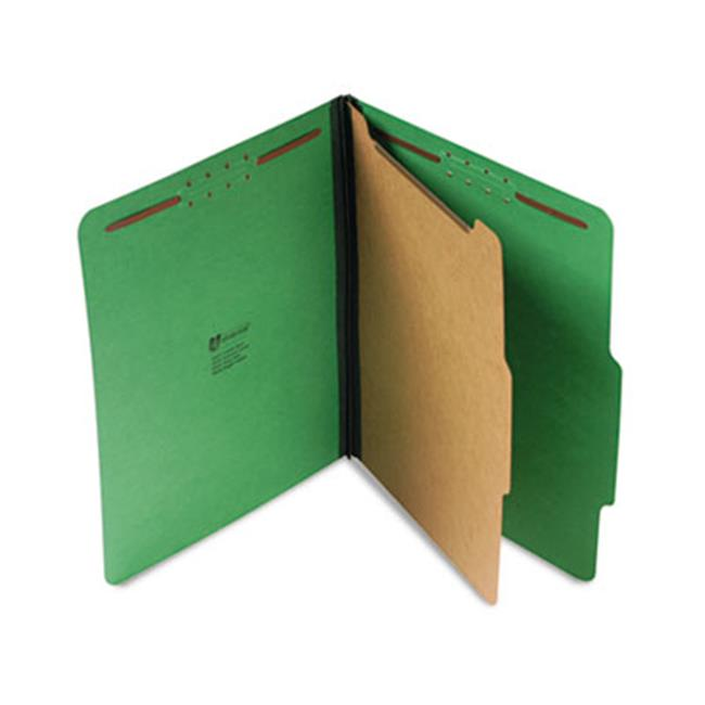 Pressboard Folder, Letter, Four-Section, Emerald Green, 10-Box