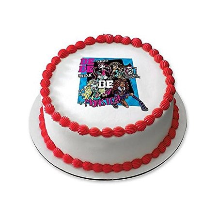 Fine Monster High 7 5 Round Edible Cake Topper Each Party Supplies Funny Birthday Cards Online Chimdamsfinfo
