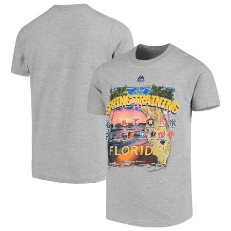 Majestic Youth 2019 Spring Training Grapefruit League Map T-Shirt - Heather Gray
