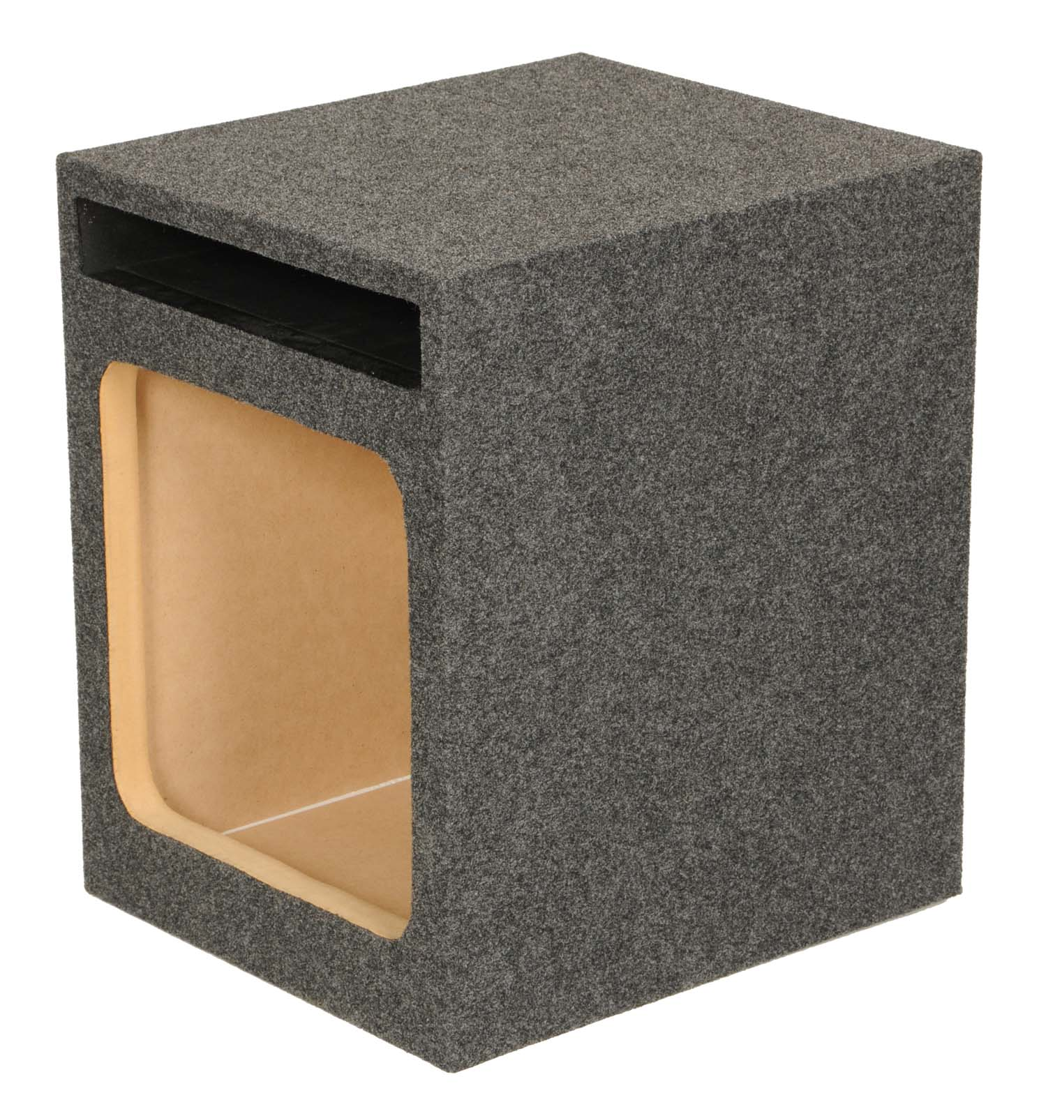 "Q Power HD112 12"" Single Heavy Duty Vented Square Subwoofer Sub Enclosure Box"