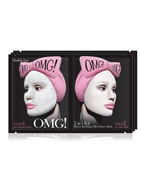 [Double Dare] OMG! 2in1 Kit Detox Bubbling Microfiber Mask-Detoxifying and Moisturizing with Carbonated Bubbles (Pack of 3)