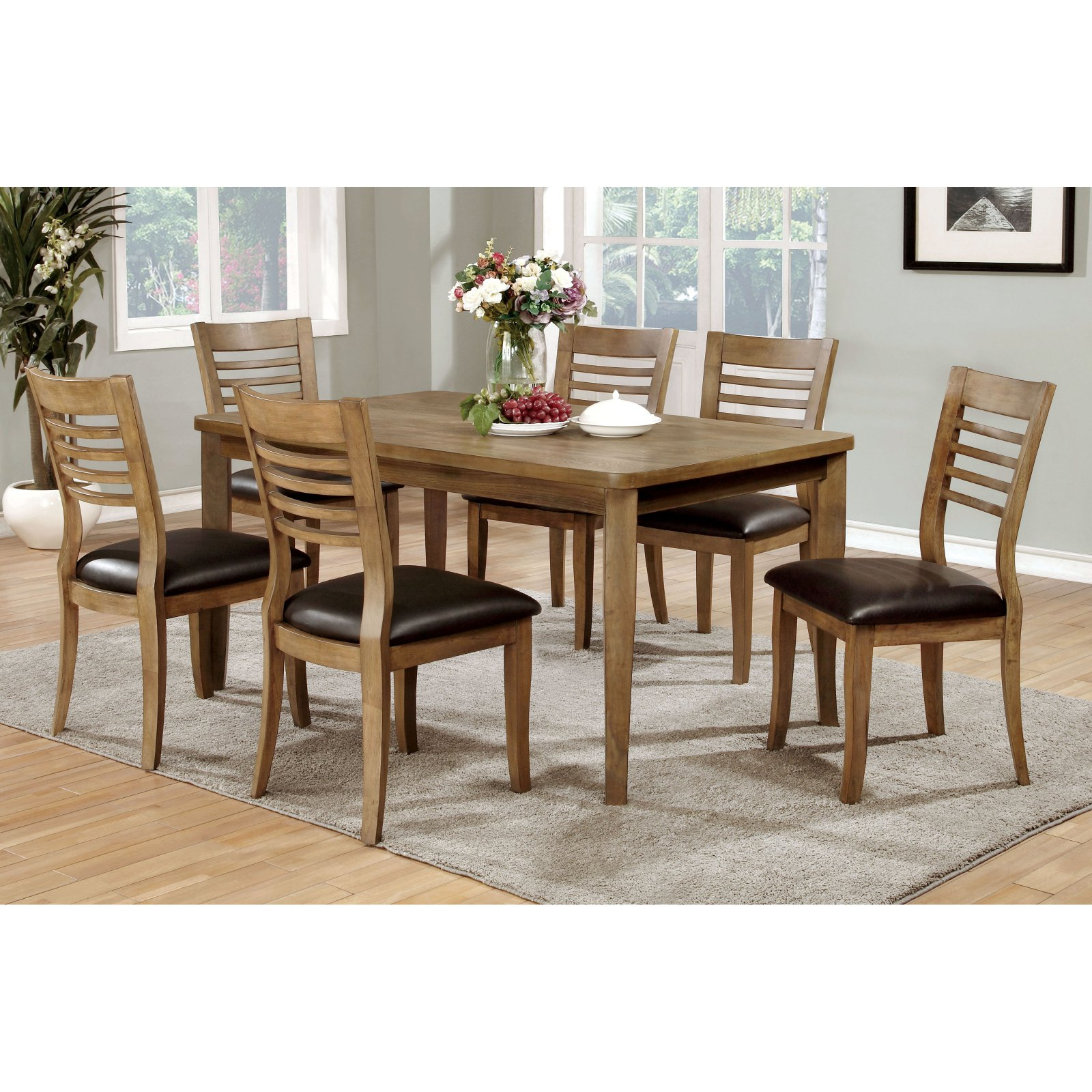 Furniture of America Claxton Wood Dining Table