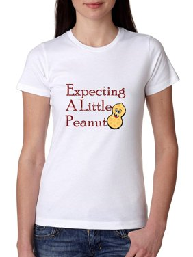 Clever Expecting a Little Peanut Pregnancy Maternity Women's Cotton T-Shirt