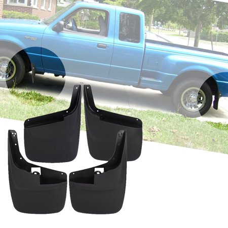 (Fits 99-10 Ford F250 F350 Superduty Without Fender Flares Mud Flaps Guards 4PCS)