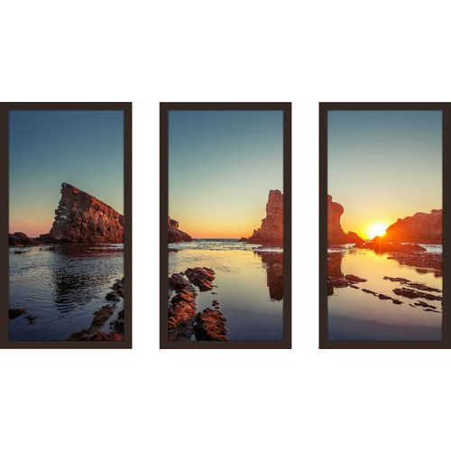 Picture Perfect International ''Seaside Serenity'' 3 Piece Framed Photographic Print Set