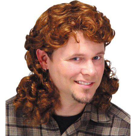 Morris Costumes Mens Mullet Wig Auburn Adult Halloween Accessory, Style, MR179032 - Joe Dirt Mullet Wig