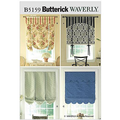 Butterick Pattern Window Treatments, All Sizes