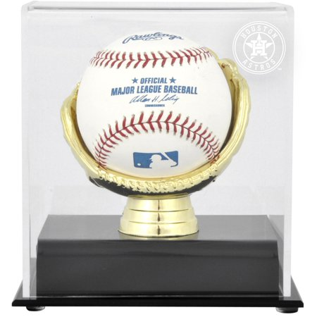 Houston Astros Gold Glove Single Baseball 2013 Logo Display (Display Cases Houston)