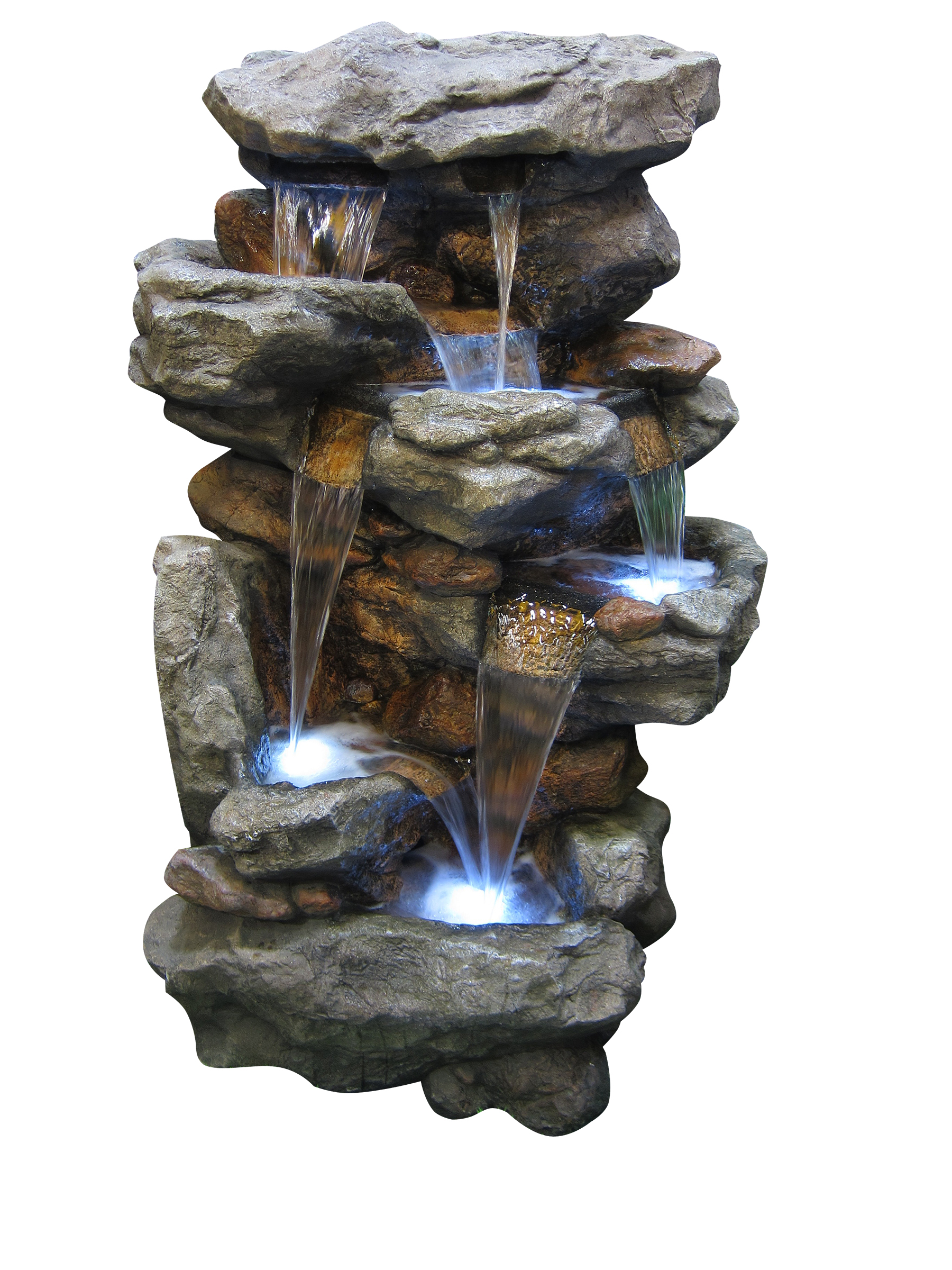 Rainforest Waterfall Fountain Led Lights by Benzara