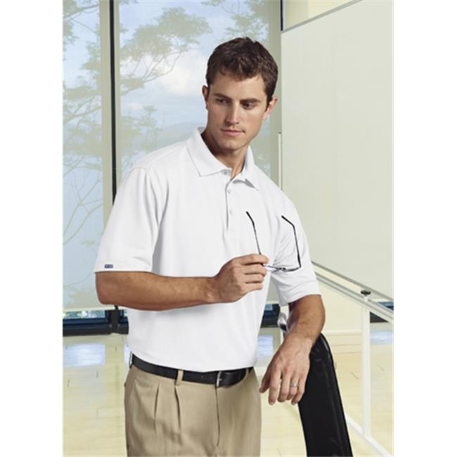 Bermuda Sands 766 Mens Matrix Short Sleeve Polo - White, Extra Large