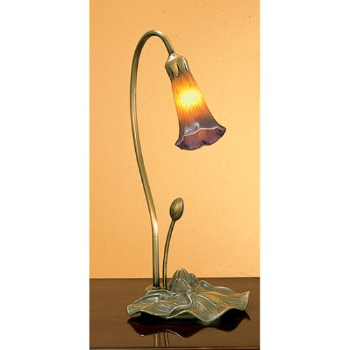 Meyda Tiffany 12460 Stained Glass / Tiffany Desk Lamp from the Lilies Collection