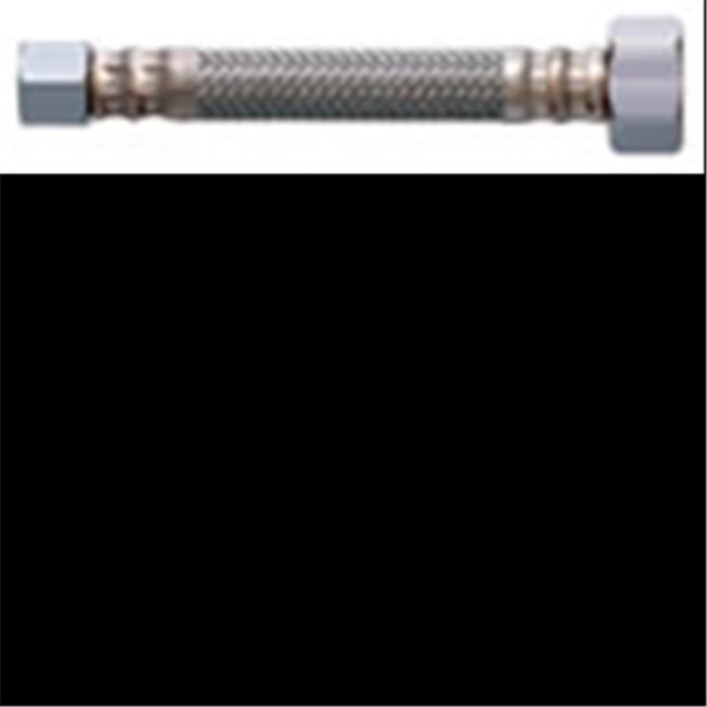 "LDR 507 4224 1//2/"" Compression X 1//2/"" F.I.P X 24/"" Reinforced Supply Line Faucet"