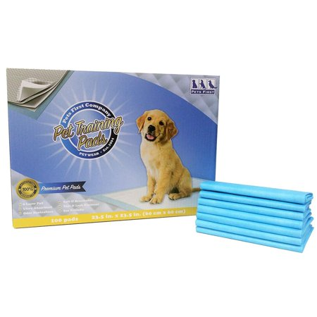 Pets First PREMIUM TRAINING PADS. 100 Count. Best Ever Wee Wee Pads, Latest (X-large Wee Wee Pads)