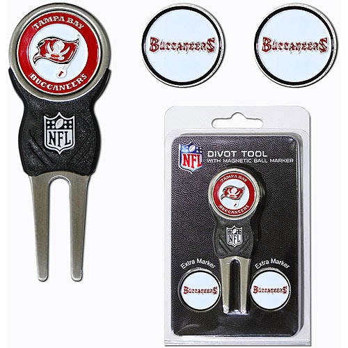 Team Golf NFL Tampa Bay Bucs Divot Tool Pack With 3 Golf Ball Markers