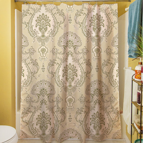 Manual Woodworkers & Weavers Damask Shower Curtain