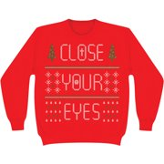 Close Your Eyes Men's  2013 Holiday Design Sweatshirt Red