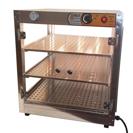 Commercial  20x20x24 Countertop Food Pizza Pastry Warmer  Display Case  HeatMax