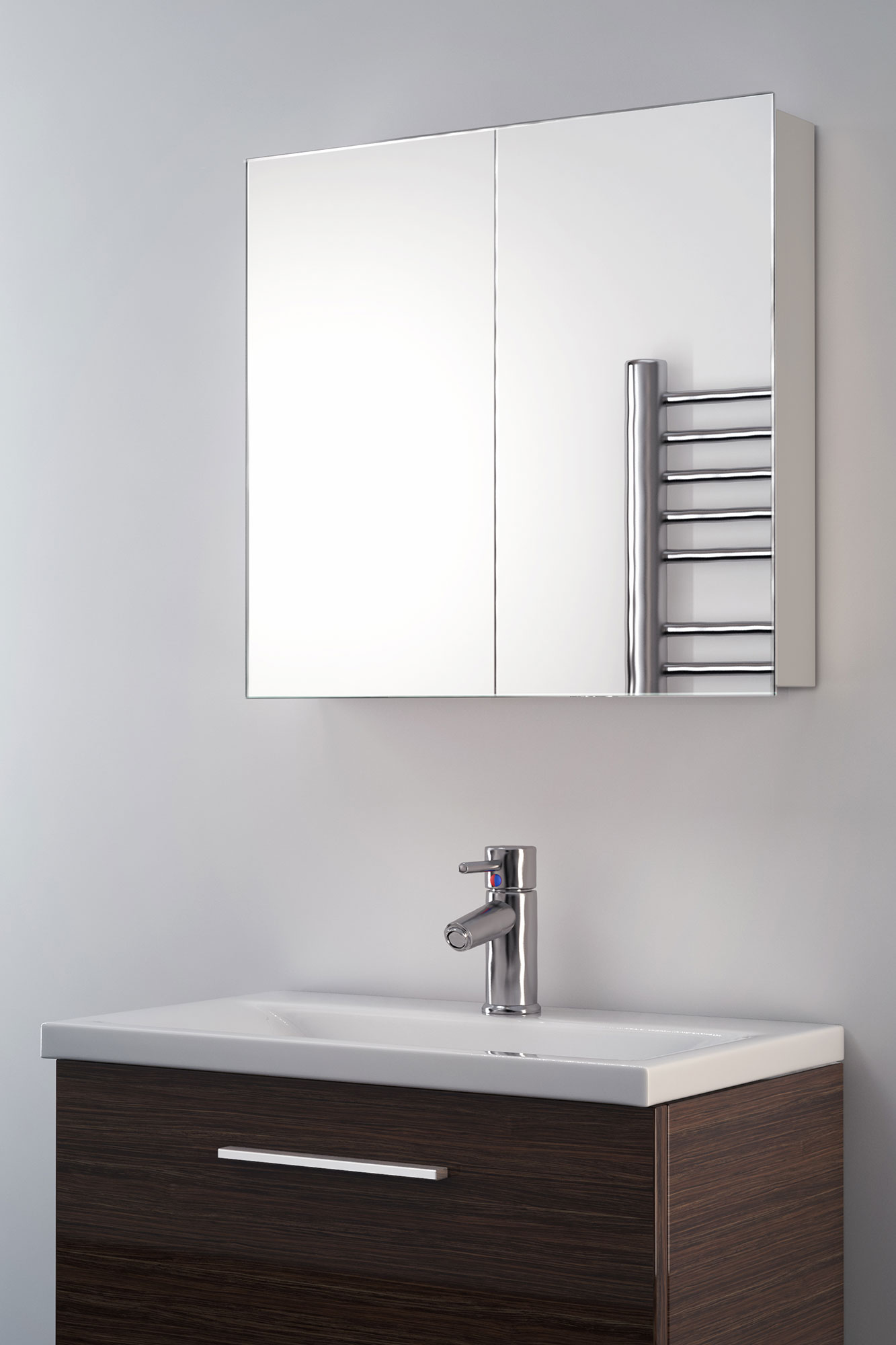 Eleanor Non-Illuminated Bathroom Mirror Cabinet k137 by Powerful Vision Ltd.
