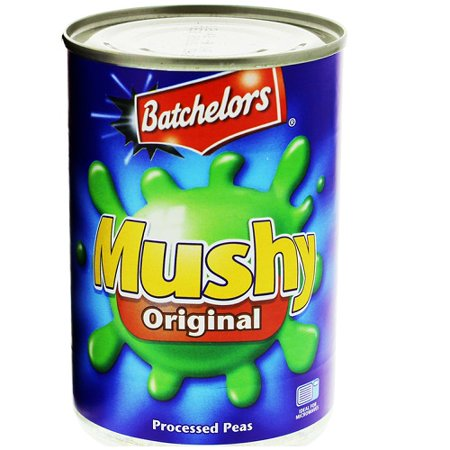 English Pea - Mushy Peas Original Bachelors English Mushy Chip Shop Style Peas (Triple Pack Of Tins)