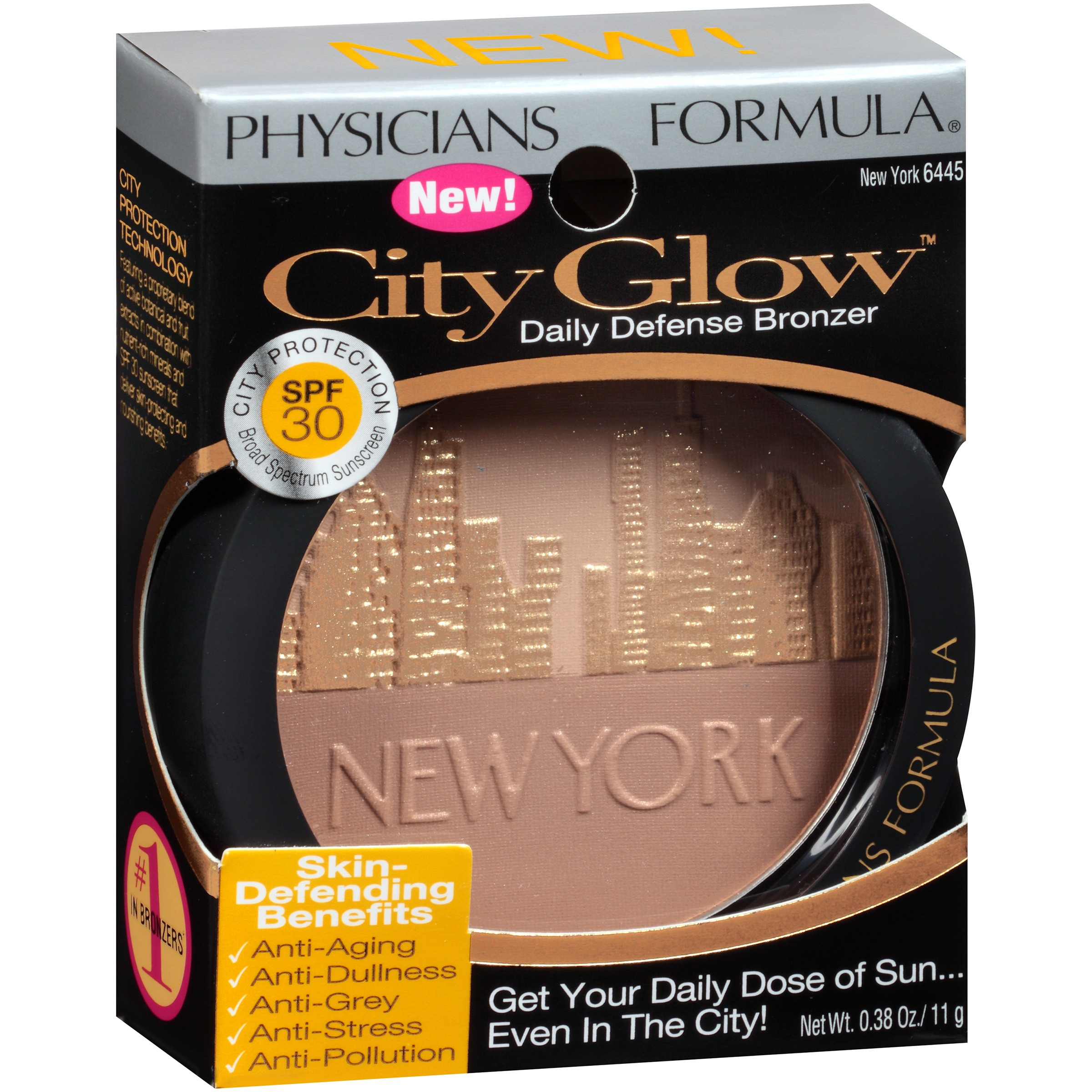 Physicians Formula City Glow 2 Bronzer 6445 New York .38 oz. Box