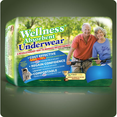 Wellness Absorbent Underwear-Xlarge-40