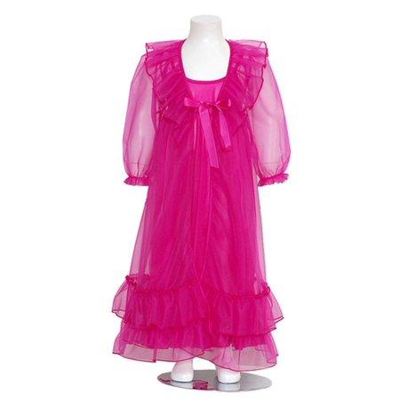 bf5cbfac7 Laura Dare - Fuchsia Frilly Peignoir 2pc Robe Nightgown Set Girls 2T ...
