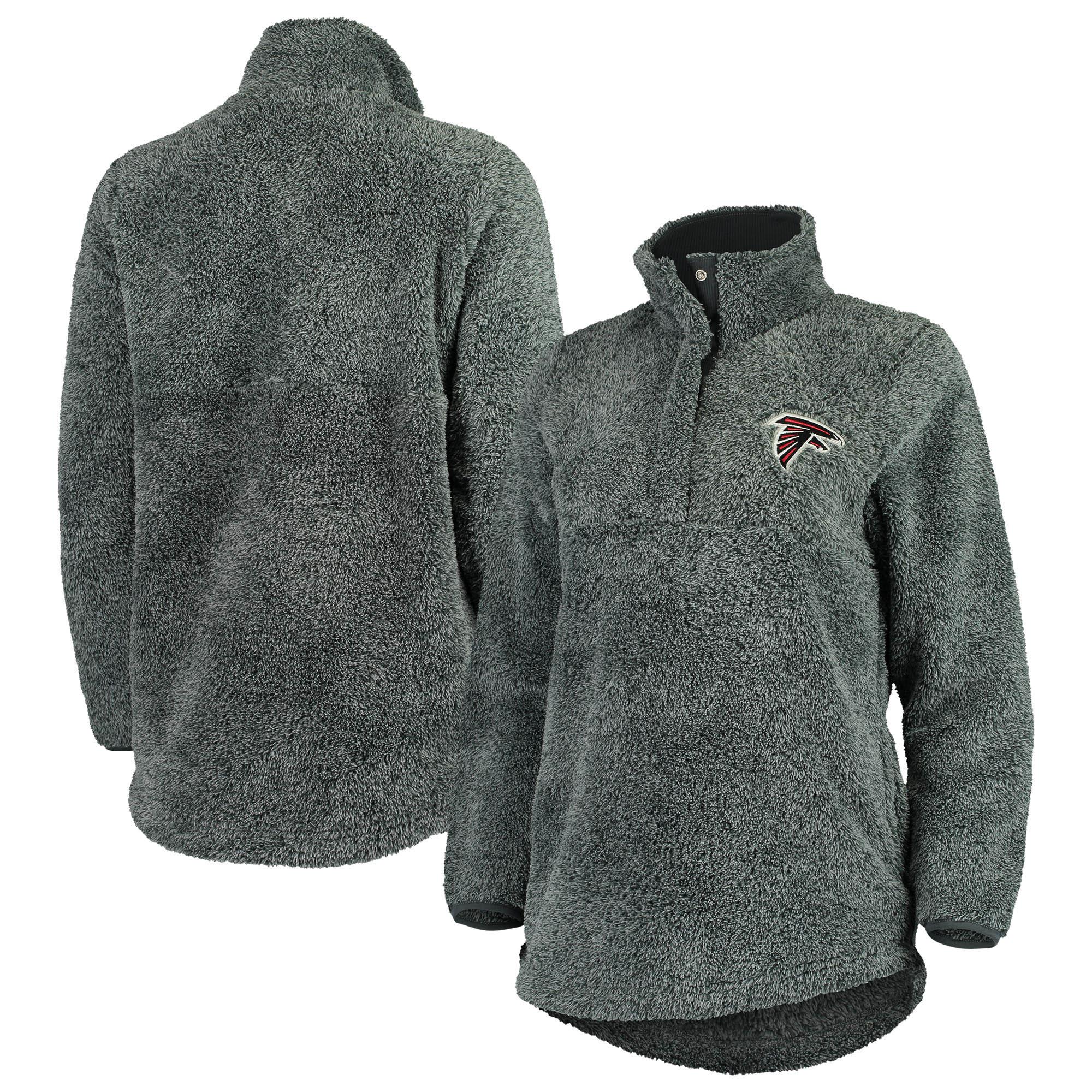 Atlanta Falcons Concepts Sport Women's Trifecta Snap-Up Jacket - Charcoal