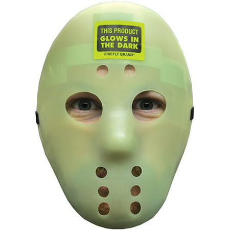 Glow Hockey Mask Adult Halloween Accessory (Scary Hockey Mask)