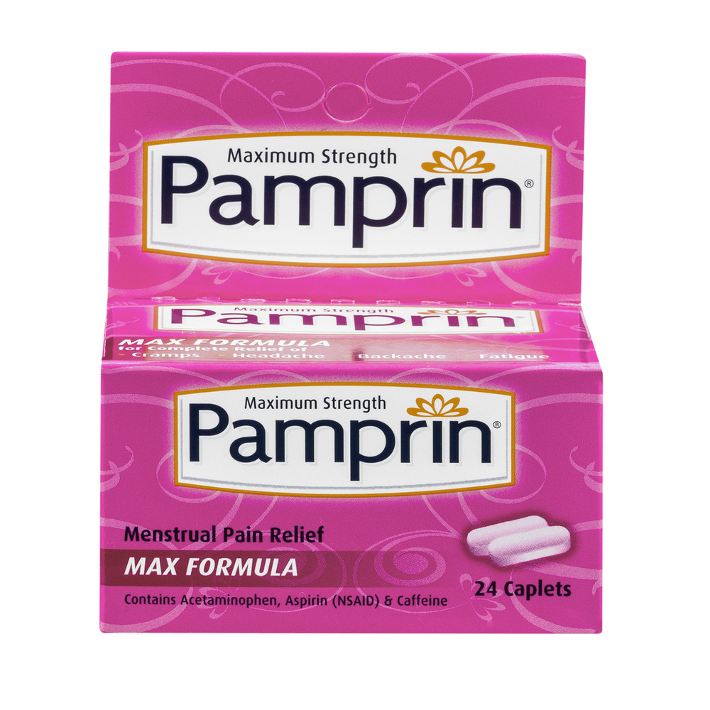 Pamprin Maximum Strength Max Menstrual Pain Relief caplets, 24ct