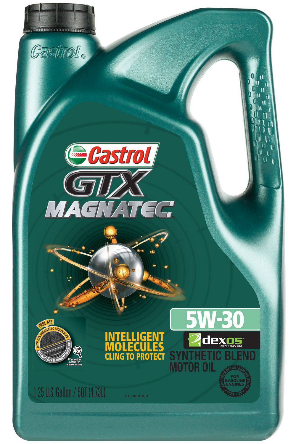 Castrol GTX MAGNATEC 5W-30 Synthetic Blend Motor Oil, 5 qt