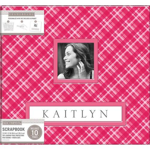 "K&Company Frame-A-Name Post Bound Album, 12"" x 12"""