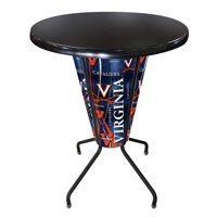 Holland Lighted NCAA Pub Table with Black Top