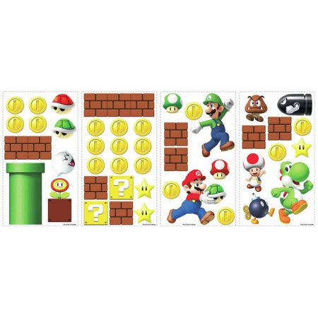 Best RoomMates Nintendo Super Mario Build a Scene Peel and Stick Wall Decals deal