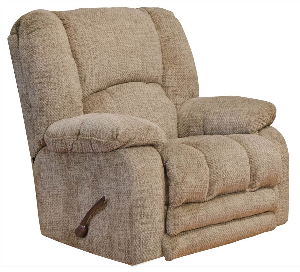 Rocker Recliner with Extended Ottoman in Camel