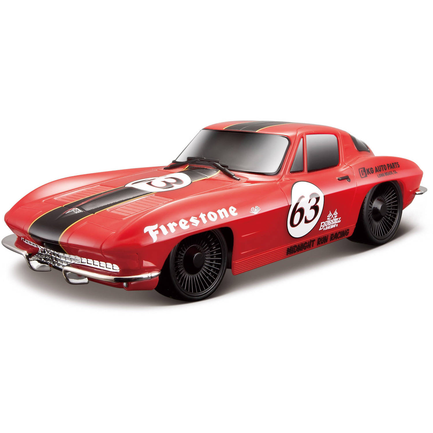 Maisto 1:24 Remote Control 1963 Corvette Red Classic Race