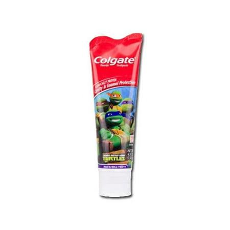 Colgate Kids Teenage Mutant Ninja Turtles Toothpaste, Bubble Fruit 4.6 oz (Pack of 3)