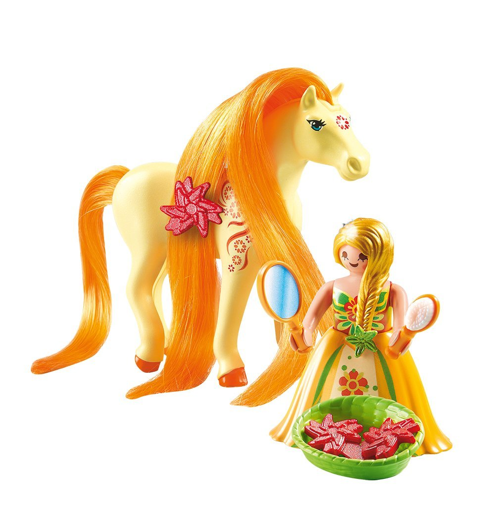 PLAYMOBIL Collectible Princess Sunny with Horse for Grooming and Dressing