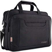 matein laptop briefcase, 15.6 inch laptop bag, business office bag for men women, stylish nylon multi-functional shoulder messenger bag for notebook computer macbook acer hp dell lenovo, black