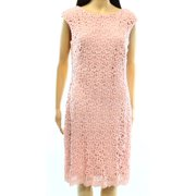 Lauren Ralph Lauren NEW Pink Crochet Lace Women's Size 10 Sheath Dress