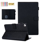Kindle Fire HD 8 Case, Dteck PU Leather Magnetic Flip Folio Stand Case Cover Built-in Card Slots For Amazon Fire HD 8 (8th Generation 2018/7th Generation 2017/6th Generation 2016), Black