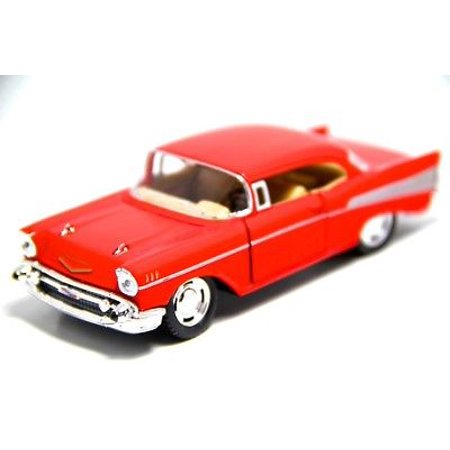 "5"" Kinsmart 1957 Chevrolet Bel Air Diecast Model Toy Car 1:40 Chevy Red"