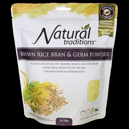 Organic Traditions Brown Rice Bran & Germ Powder 7 oz Pkg